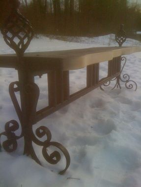 Custom Made Andiron Custom Bench