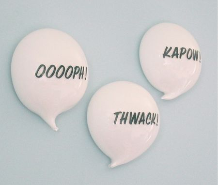 Custom Made Glass Comic Strip Word Balloons