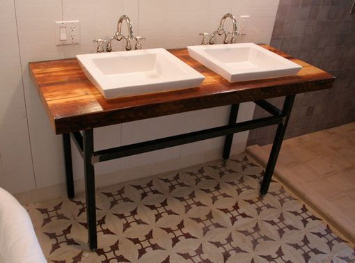 Custom Made Rustic Modern Vanity