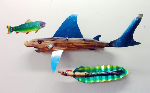 Custom Made Sculpture, Home Decor, Land Shark Drift Wood!!