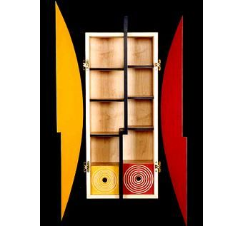 Custom Made Red & Yellow Cabinet #1