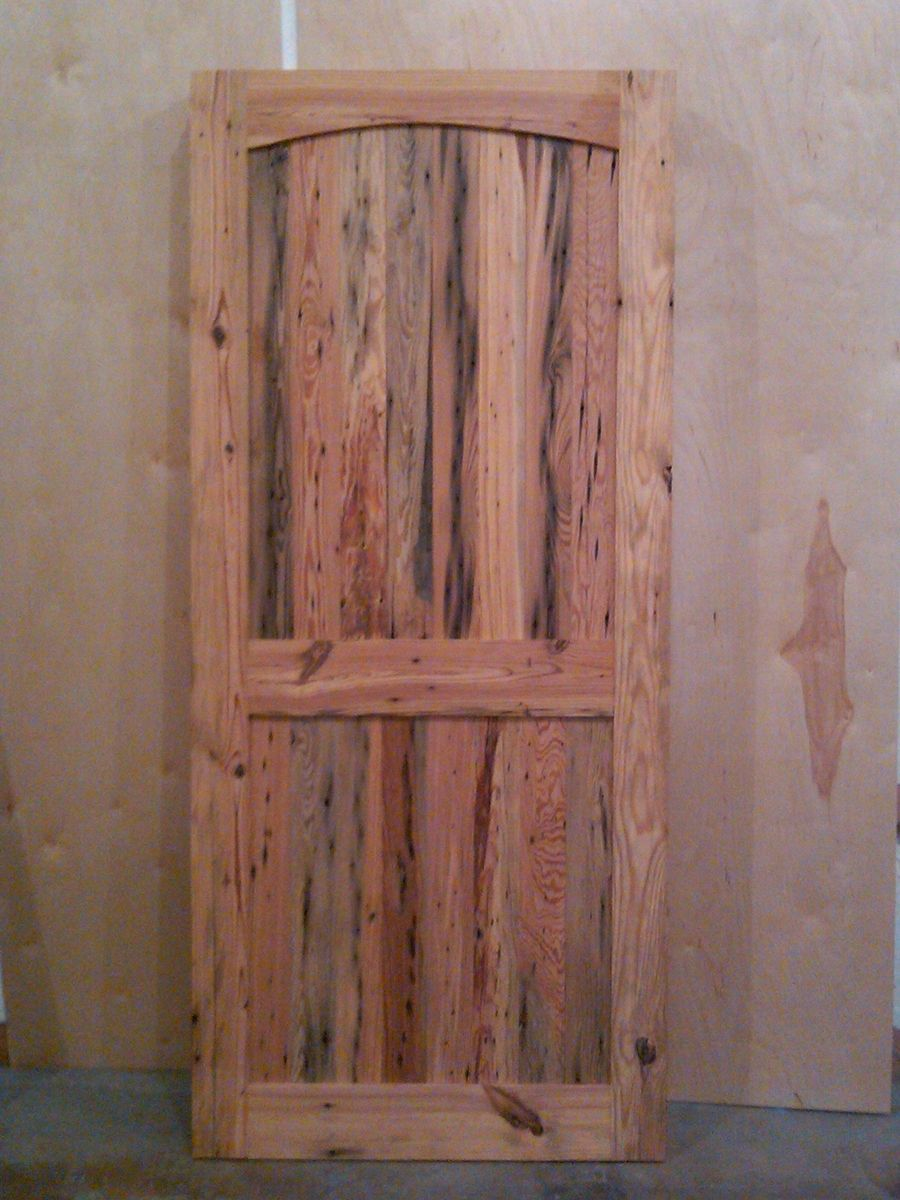 2 Panel Antique Pine Door - Custom Made 2 Panel Antique Pine Door By Reclaimed Wood Creations