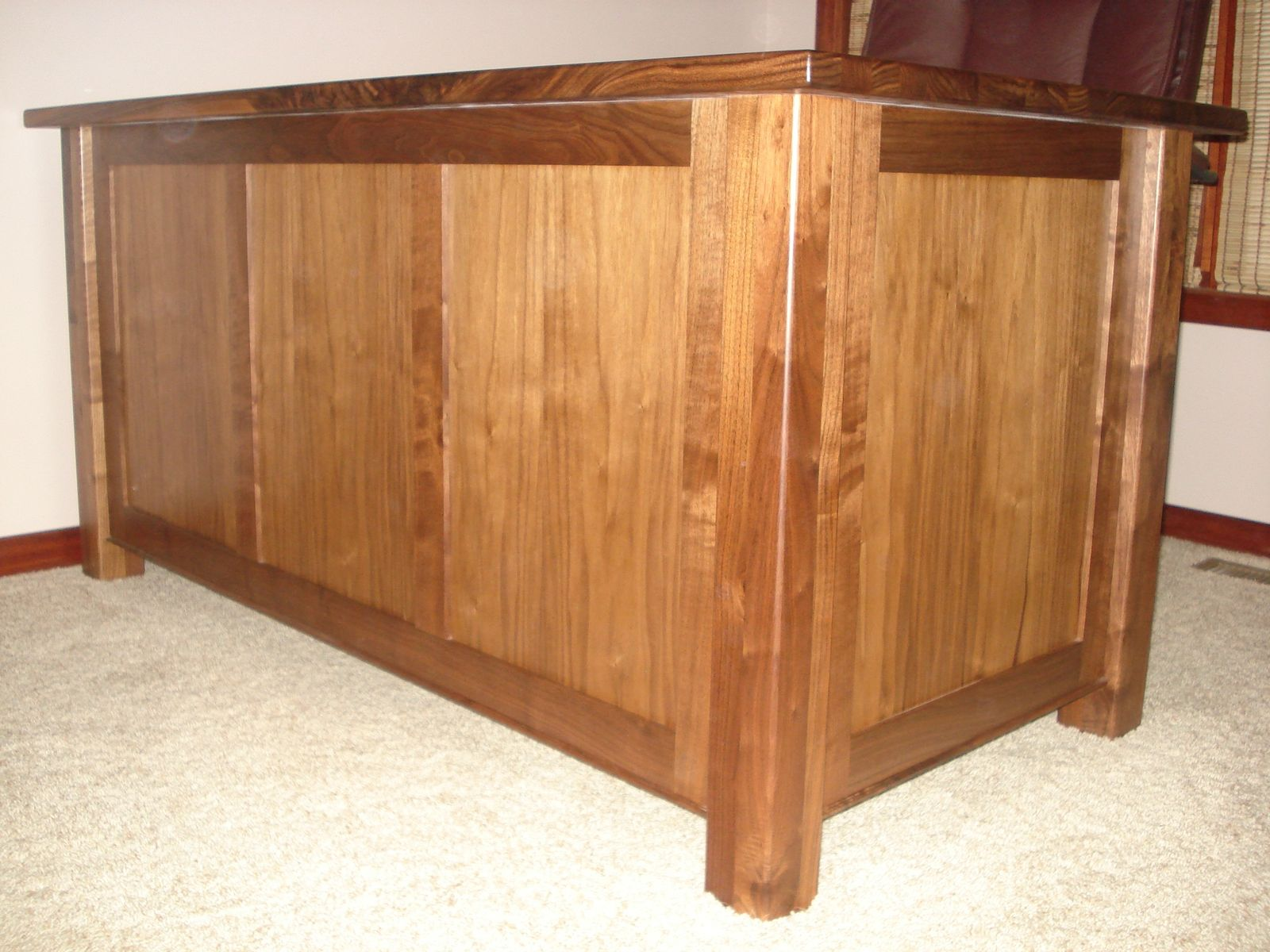 Custom Made Mission Style Walnut Desk