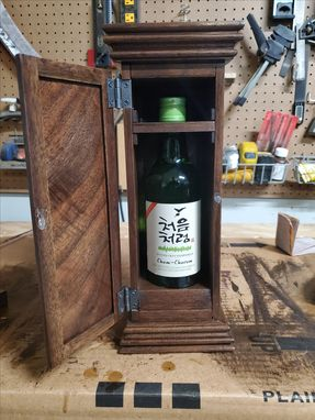 Custom Made Whiskey Bottle Presentation Box