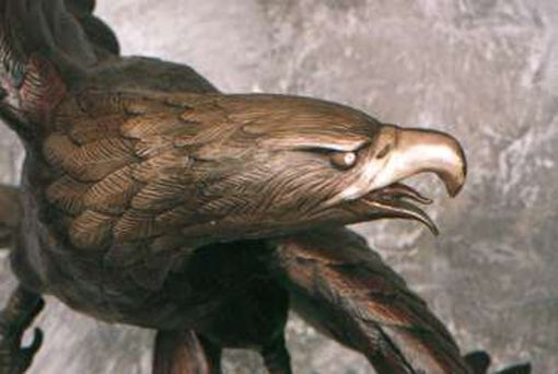 Custom Made American Eagle Bronze Sculpture