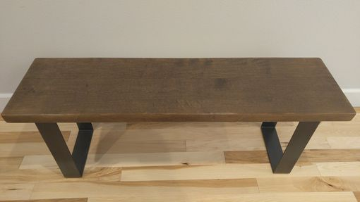 Custom Made (Free Shipping) Urban Industrial Entryway Bench - Brown