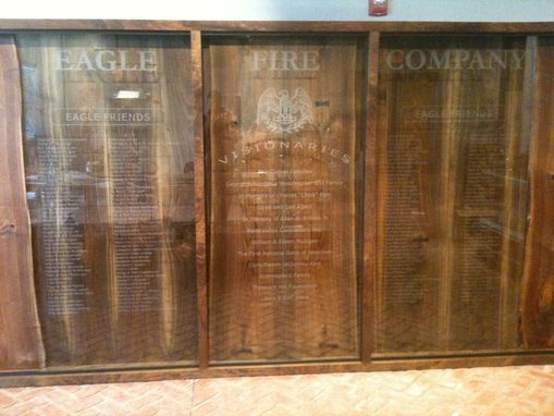 Custom Made Etched Glass - Donor Appreciation Wall