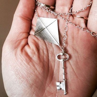 Custom Made Kite And Key Necklace