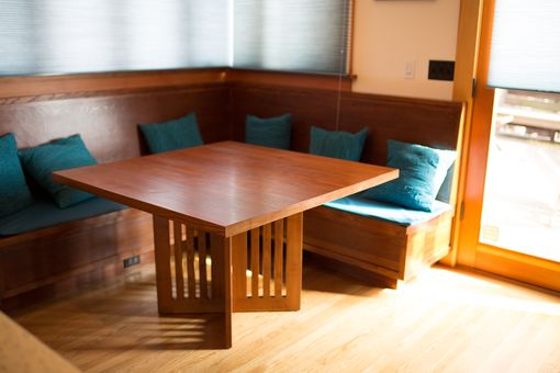 Custom Made Breakfast Room Table And Bench.