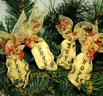 Custom Made Parchment Scroll Christmas Ornaments