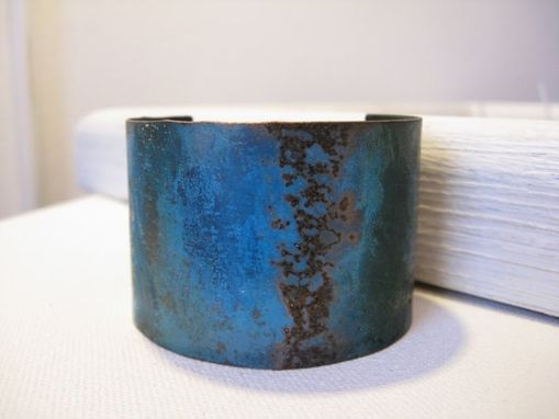 Custom Made Verdigris Copper Cuff Bracelet