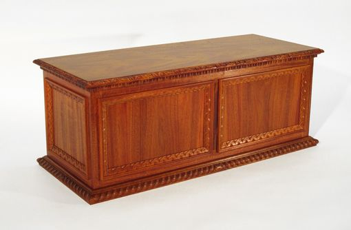 Custom Made Carved Frame And Panel Chest