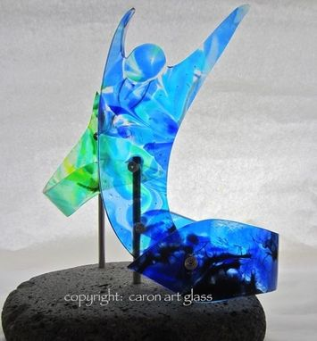 Custom Made Fused Glass Sculpture - Limitless