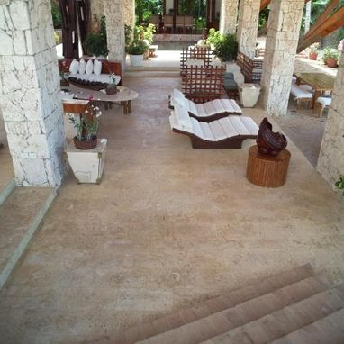 Custom Made Natural Coral Stone Pavers