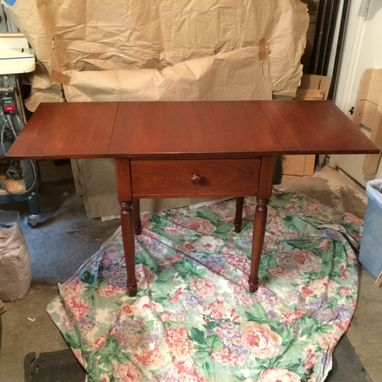 Custom Made Drop Leaf Game Table By Tom S Handcrafted Furniture Custommade Com
