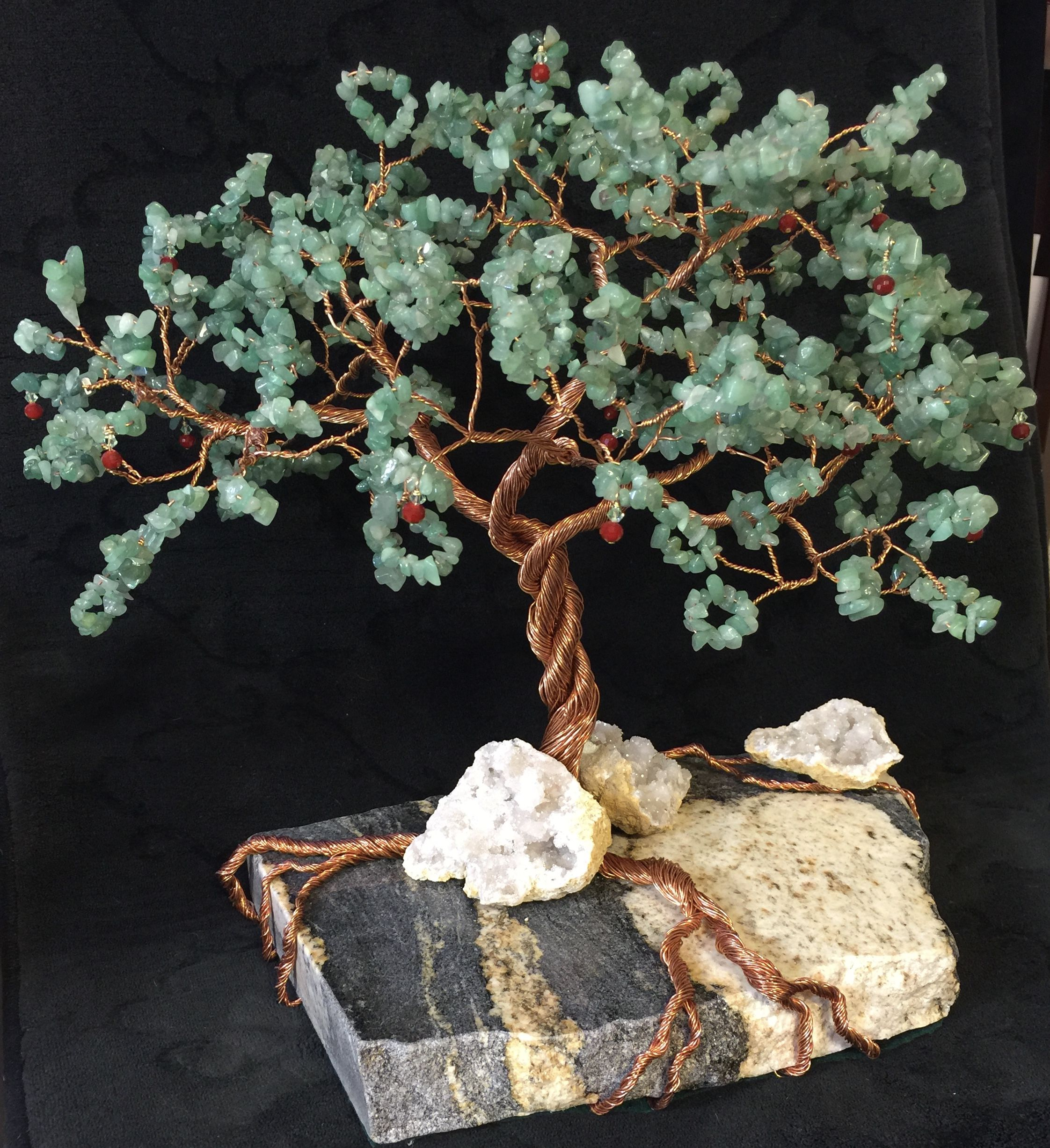 Custom Copper Wire Tree Sculpture By L Adore Opals