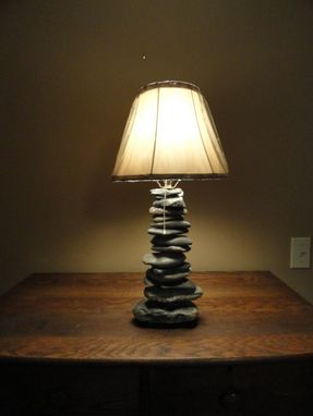 Custom Made Stacked Stone Lamp
