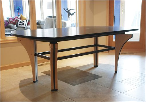 Custom Made Maple & Steel Kitchen Table
