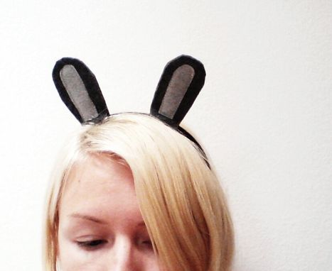 Custom Made Grey Bunny Headband, Halloween Costume Or Dress Up Grey Rabbit Ears For All Ages