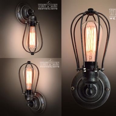 Custom Made Westmenlights Industrial Art Deco Wall Sconce Iron Lamp Shade Bar Store