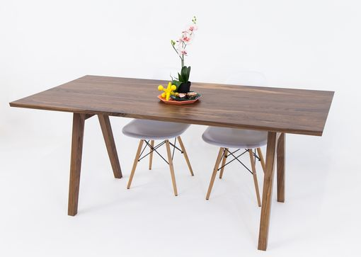 Custom Made Mid Century Modern Inspired Sputnik Solid Walnut Dining Table, Mixed Wood