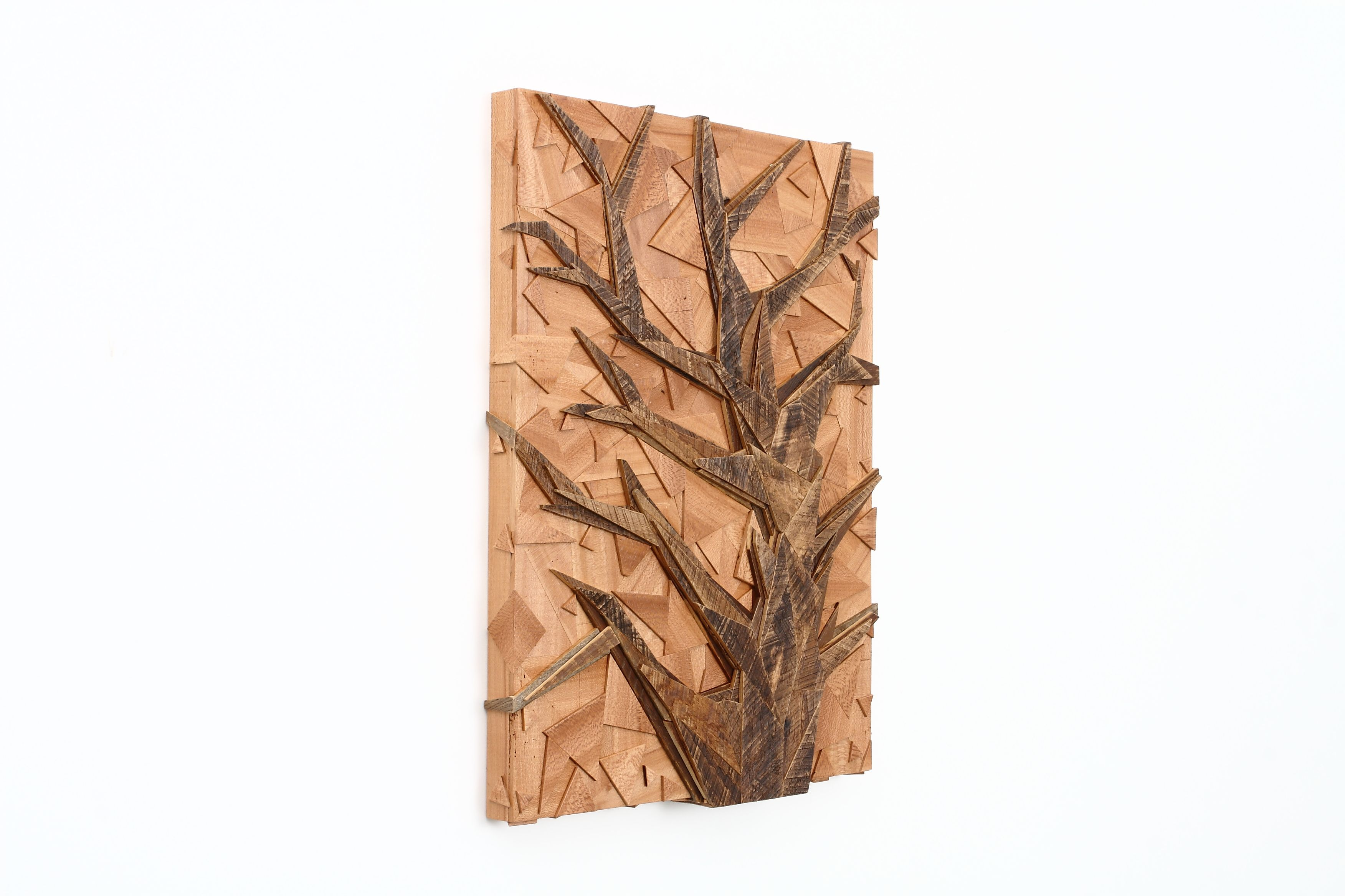 397a9184f83 Hand Made Tree Of Life Geometric Tree Artwork Made Of Old Reclaimed Wood