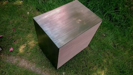 Custom Made Blackened Steel Nightstands