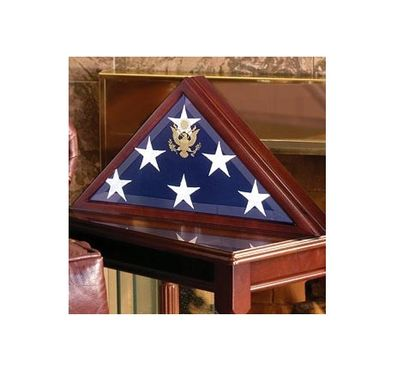 Custom Made Flag Display Case For Large Flag, Coffin Flag Case