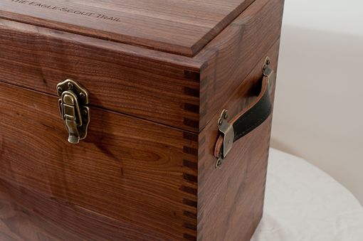 Custom Made Solid Walnut Eagle Scout Memorabilia Box