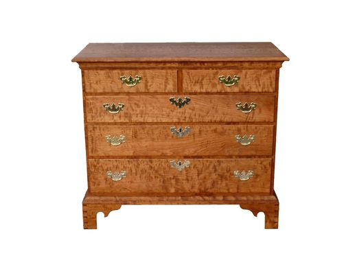 Custom Made Chippendale Five Drawer Chest