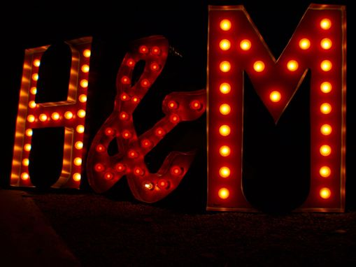Custom Made H&M Vintage Marquee Art Letter Bulb Channel 3 Ft Each