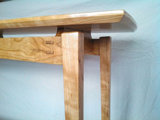 Custom Made Floating Hall Table, Cherry