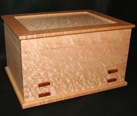 Custom Made Birdseye Maple Jewellery Boxes