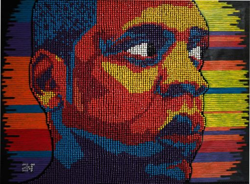 Custom Made Pushpin/Thumbtack Portraits