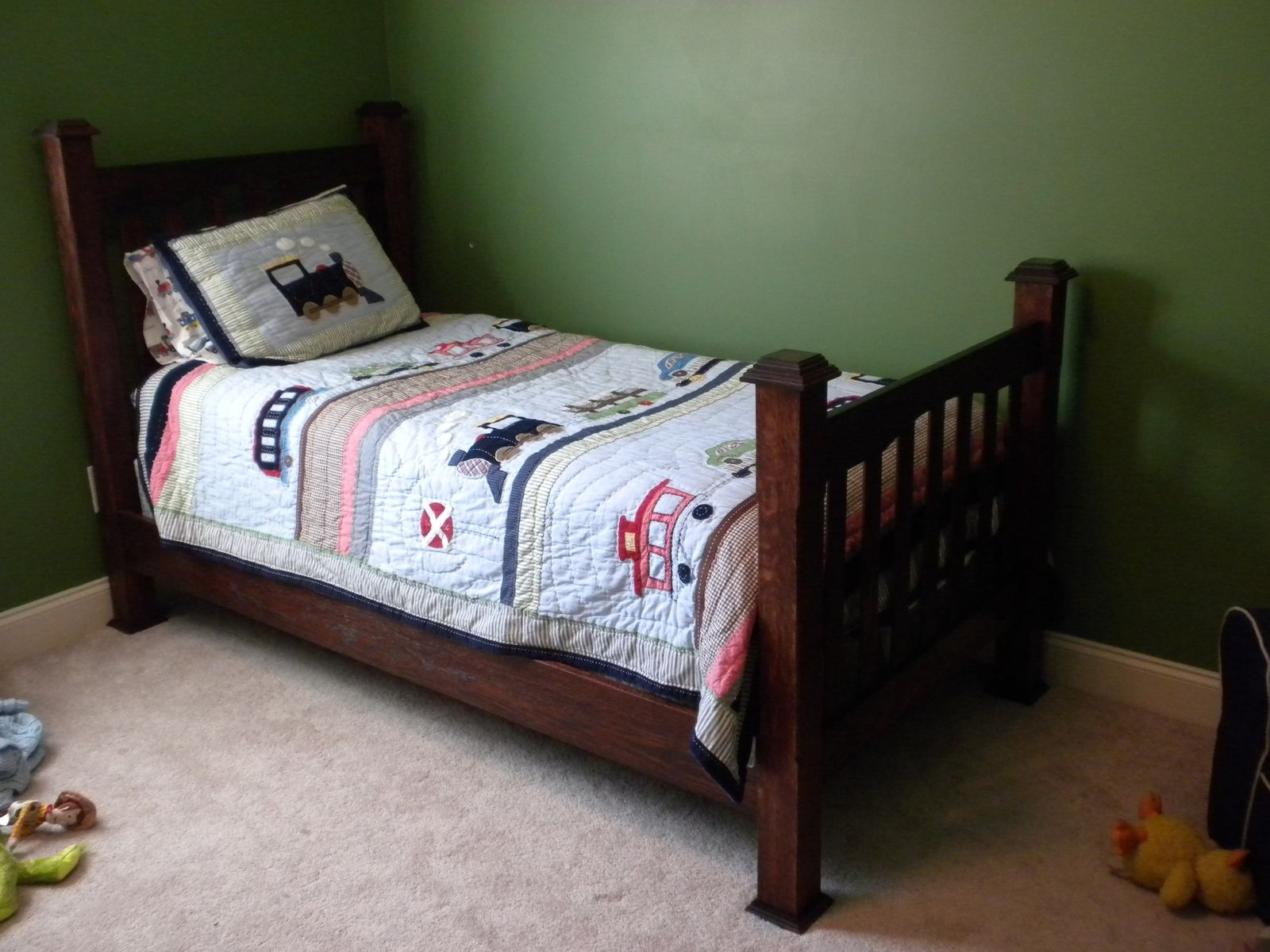 Custom Made Twin Size Mission Style Bed