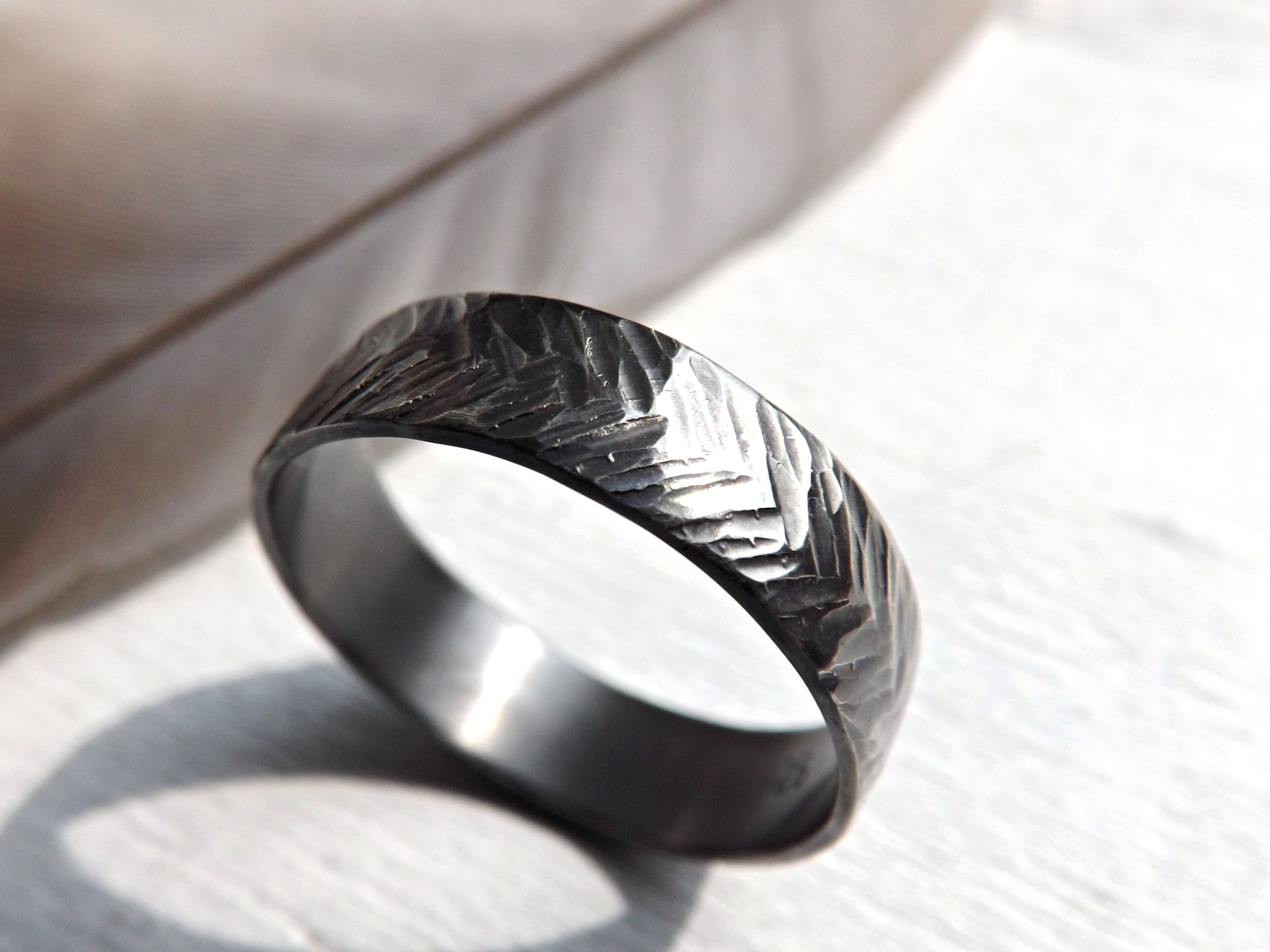 Buy a Handmade Chevron Wedding Ring Silver Sterling Silver Ring