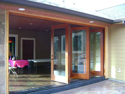 Custom Made Folding Exterior Wood Window Walls