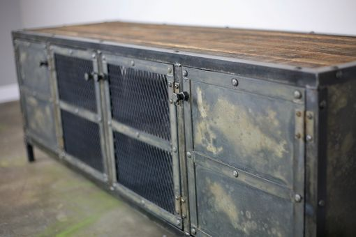 Custom Made Vintage Industrial Buffet/Credenza Reclaimed Wood Top & Steel Urban Design Custom Configurations