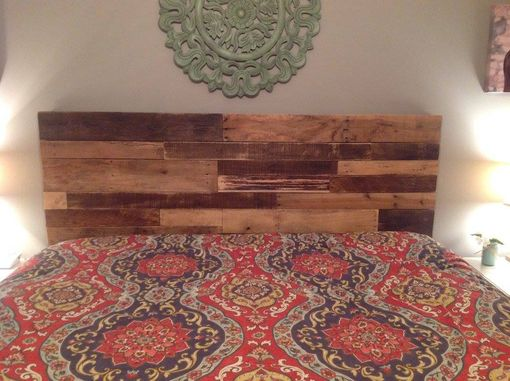 Custom Made Rustic Pallet Headboard