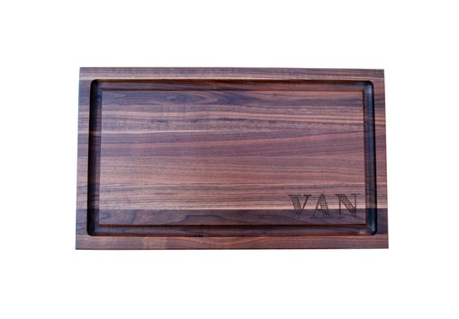 Custom Made Edge Grain Butcher Block Cutting Board Walnut