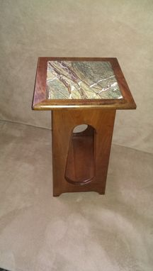 Custom Made Granite Top Side Table