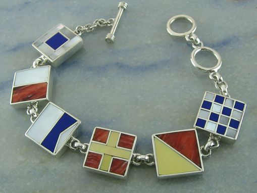 Custom Made Marine Signal Flag Bracelet With Six Initials