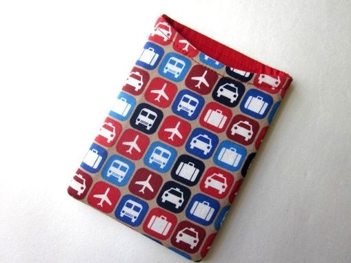 Custom Made Handmade Passport Cover Train, Airplane, Taxi, And Luggage, Vegan