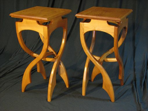 Custom Made Pirouette Side Tables