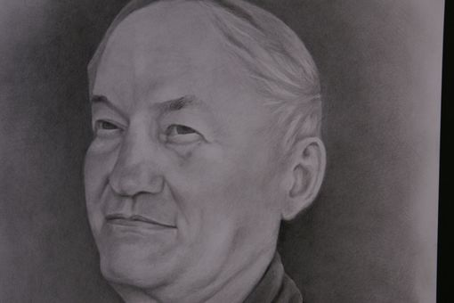 Custom Made Portrait Graphite Hand Drawn Custom Grandfather, Parent, Family