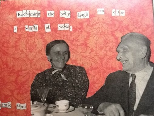 "Custom Made Card Set ""Belly Laugh"" Vintage Photo Orange Blank"