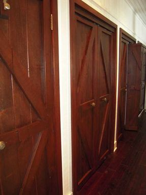 Hand Made Custom Reclaimed Wood Bi Fold Closet Doors For A