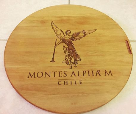 Custom Made Wine Panel Montes Alpha Lazy Susan Large 20 Inches Diameter.