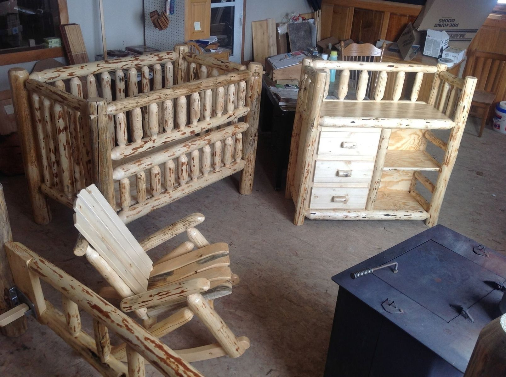 Custom Rustic Baby Room by The Amish Hook Up | CustomMade.com