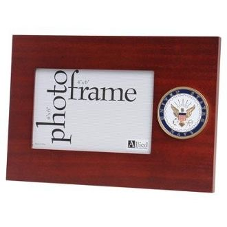 Custom Made U.S. Navy Medallion Desktop Picture Frame